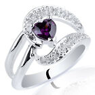 Delicate Heart Shape Stone Lady .925 Sterling Silver Ring Size 6 7 8 9 Fashion