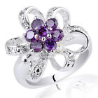 Flower Shape Lady Genuine Sterling Silver Ring Size Selectable Can Engrave