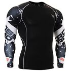 FIXGEAR CPD_B17 Skin Compression Base Layer Training Shirt Workout Athlete MMA