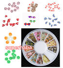 180pcs 3D Mix Tiny Fimo Nail Art Polymer Clay Slices Decoration Nail Tips Wheel