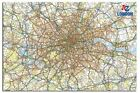 A - Z London Map Wall Chart 36 x 24 Inch Large Poster New - Laminated Available
