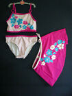 new ex High St 3 piece Tankini swimsuit & skirt PINK 2 3 4 5 6 7 yrs