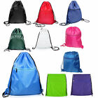 Euro Premium Zippered Zip Drawstring Rucksack Gym Bag Gymsac in 10 Colours