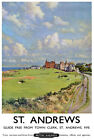 TX166 Vintage St. Andrews Scotland Railway Travel Tourism Poster Re-Print A4