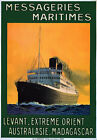 TX215 Vintage Messageries Maritimes Ocean Liner Cruise Ship Travel Poster A4