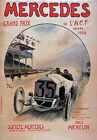 AV83 Vintage 1908 Mercedes Grand Prix Motor Racing Advertisment Poster Repro A3