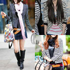 Celeb Style Striped Tunic Blazer Jacket Coat T050