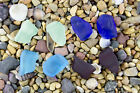 4 x Beach Sea Glass Wire-Wrapping Nuggets NO HOLE Pick Your Color! PMX2