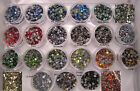 Hotfix Glass Rhinestones Sample - Mix or Crystal Clear - Glue or Iron On HF
