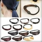 Women's Braid Wig Hairs Rope Elastic Ponytail Holder Fashion Straight Knitted