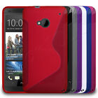 Premium S-Wave Hydro Gel Rubber Slim Case Cover Skin Fits HTC One Mobile Phone