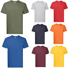 3 x Fruit of the Loom SUPER PREMIUM T Shirt 100% Heavy Cotton Blank Tee Shirts