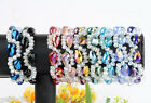 1/10pc Clear Faceted Loose Beads Color Teardrop Glass Bracelet Bangle Girls Gift