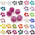 5/10/20/50Pcs Crystal Clay Pave Rhinestone Disco Ball Beads Charms Fit Bracelet