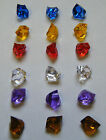 Gem Stones Plastic Pieces Games Decorations NEW