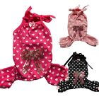 Sequin Bow Dog Pajamas Overalls Dots /Hearts Dog Clothes Pet Apparel XS S M L XL