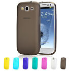 Ultra Thin Silicone Case With Dust Plug For Samsung S3 I9300 + Screen Protector