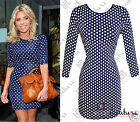 Womens Celeb Polka Dot Bodycon Slimming Party Dress Summer Tunic Celebrity Style