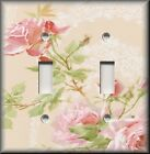 Light Switch Plate Cover - Pink Roses With Lace Background - Rose - Home Decor