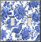 Light Switch Plate Cover - Blue And White Traditional Floral - Home Decor