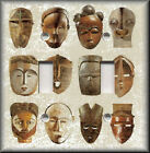 Light Switch Plate Cover - Tribal Masks - African Home Decor