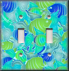 Light Switch Plate Cover - Blue And Green - Tropical Fish - Home Decor
