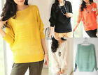 AU SELLER Batwing Sleeve Hollow Knitted Loost Pullover Jumper Top Sweater T110