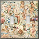 Light Switch Plate Cover - Vintage Shabby Angels Cherubs - Chic Home Decor