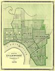Historic City - EVANSVILLE INDIANA MAP 1876