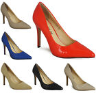 WOMENS LADIES HIGH STILETTO HEEL CASUAL WORK OFFICE POINTY TOE COURT SHOES SIZE
