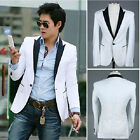 New Stylish Men's Casual Slim fit One Button Suit Blazer Coat Jackets