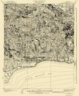 Topographical Map - Solstice Canyon California Quad - USGS 1932 - 23 x 27.69