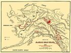 Old Mine - ALASKAN GOLD FIELDS MINING MAP - T S LEE 1897