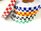High Intensity Reflective Chequer Checkered Tape Vinyl Roll 25MM 50MM 1M 5M 10M