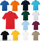 6 x Fruit of the Loom Premium 100% Cotton Polo T Shirt  S - XXXL 13 Colours