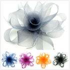 HF008 1pc Flax Feather Flower Multipurpose Hairpin Brooch Hair Clip
