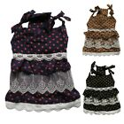 Cute Polka Dots Dog Dress Sundress Lace Skirt Pet Apparel Dog Clothes XS S M L