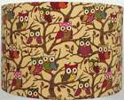 Multi-Coloured Owls Linen Style Lampshade, Ceiling Light / Table Lamp  NEW  2016