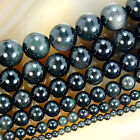 Natural Black Obsidian Round Beads 15.5
