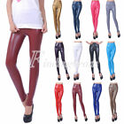 12 Color High Quality Lady's Faux PU Leather Leggings High Waist Leggings Pants