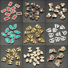 10X 3D Shiny Alloy Rhinestone Nail Art Design Stickers Glitters Decoration Tips