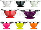 RETRO ENAMEL MINI KITCHEN COLANDER STRAINER DUAL HANDLES LIME ORANGE PINK PURPLE