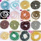 7-8mm Colors Pick Cultured Freshwater Pearl DIY Loose Freeform Oval Rice Beads
