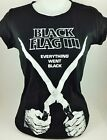BLK FLG EVERYTHING WNT BLK PUNK GOTHIC HARDCORE ROCK UK BAND SHIRT
