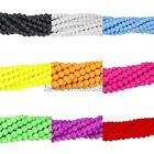 Matte Neon Frosted Glass Round Spacer Beads Long Strand Various Color Size