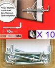 10 Hooks To Fit M4 x 33mm Hollow Cavity Wall Fixings Plasterboard Anchors Plugs