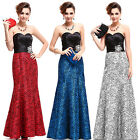 Women's Strapless Dresses Printed Satin Evening Gown Formal Wedding Dress 09727