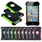 Hybrid Hard Rubber Armor Combo Case Cover for iPod Touch 4th 5th iPhone 4S 5C 5S