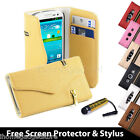 Designer Zip PU Leather Wallet Case Cover for Samsung Galaxy S3 Siii i9300 <br/> + FREE screen protector, cleaning cloth &amp; touch stylus
