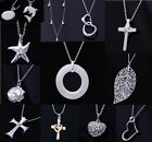 New Special Price wholesale fashion jewelry Silver Chain Necklace+gift box925